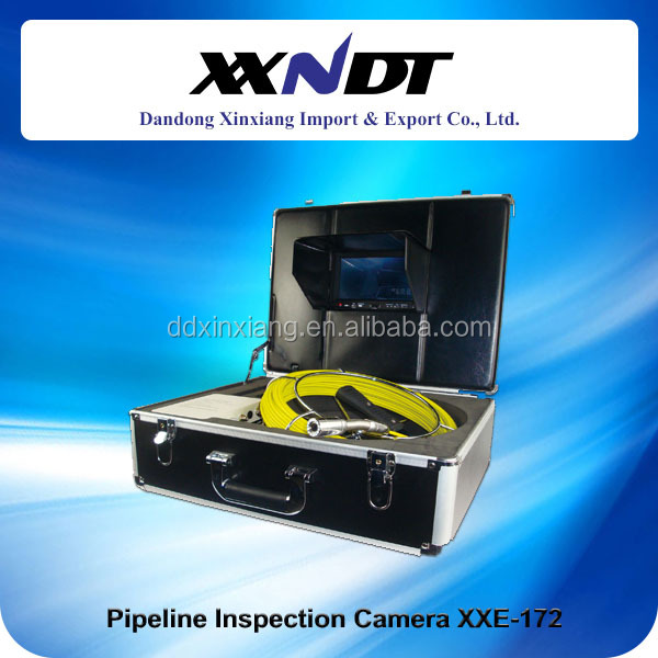 60m cable sewer tube inspection camera with ABS case pipe inspection