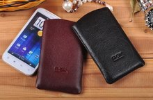 Cheap PU Leather Mobile Phone Arm Bag Cell Phone Leather Bag
