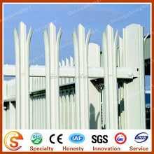 Angle picket bar fence Powder spray steel palisade fence