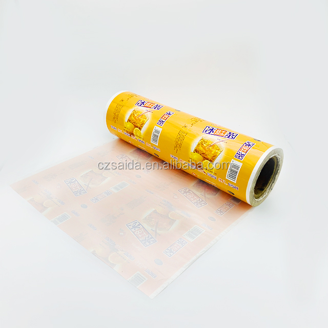 OEM Custom printed Ice-Cream Popsicle packaging bag/Food grade roll film for Frozen food packaging