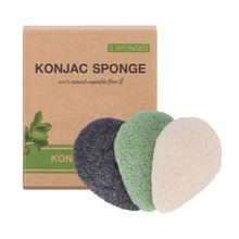 Activated Charcoal Konjac Body Sponge, 100% Natural Sponge, Eco-friendly, Suitable For Face & Body Cleansing