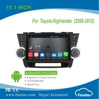 "10.1"" Android 4.4.4 HD Touch Screen Car Mp3 player for Toyota Highlander (2008-2012) with GPS Navigation BT MP3 Wifi 3G"