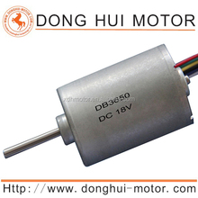 High torque 12v dc rc brushless motors and system