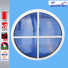 modern different shape bullet proof aluminium fixed round window / round opening Window