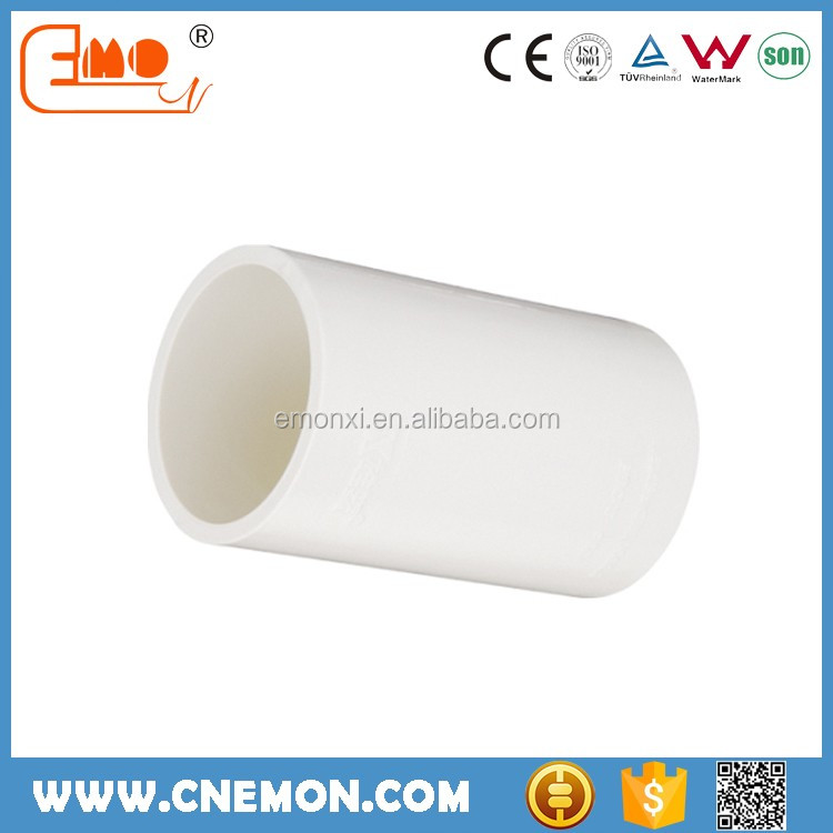 25mm Water Supply Plastic Fitting PVC White Coupling