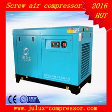 15kw 20hp 10 bar AC power electric motor oil less factory supply frequency repair rotary screw air compressor