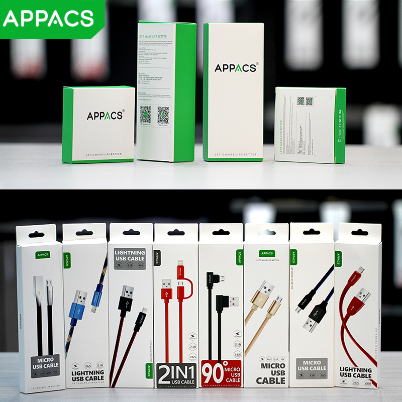 APPACS Breathing LED Light Fast Charge USB Data Cable For Samsung Android Mobile Phone USB Charging Cables