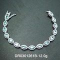 Fashion Style 925 Sterling Silver Green Spinel Bracelet for Women Daily Fine Jewelry
