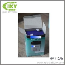 6V4AH Sealed lead acid battery with color box packing welcome OEM