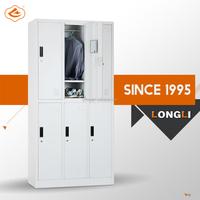 Steel/Iron/Metal locker 6 door L shaped /Z shape 2 step steel locker wardrobe