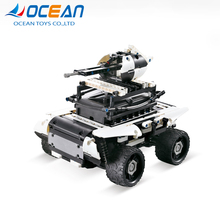 Top selling products in alibaba 3D puzzle toys building block 2.4G rc car self-assembly kid ATV