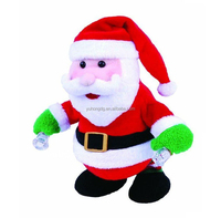 singing santa with nodding head and moving hands