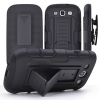 Shockproof Stand Hard Phone Cases for Samsung Galaxy S3 S4 S5 S6 S6 edge note 4 5 Rugged Impact Belt Clip Holster Cover Cases