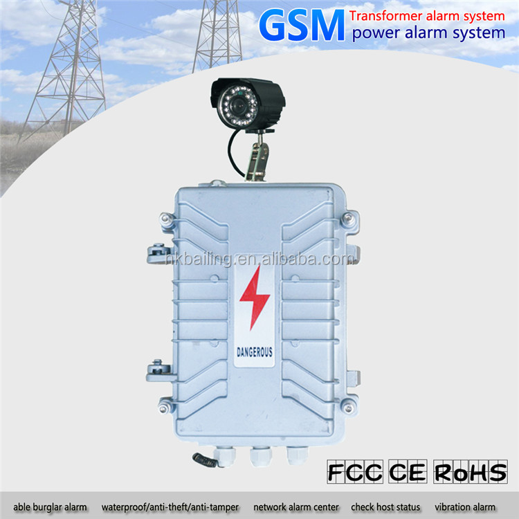 power station GSM 3 phases 4 wires security alarm for high voltage transformers