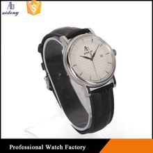 Big Face Men Stainless Steel Case Miyota Movt Quartz Watch Bezel Date