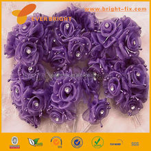 China Factory Christmas bronzing snowflake organza fabric roll ,cheap organza fabric roll ,handmade organza flower