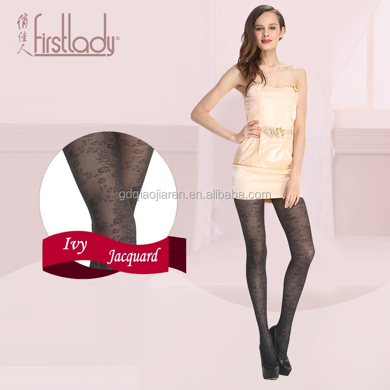 Firstlady 2016 new fashion 30D women ivy jacquard tights sexy nylon stockings Collant femme pantyhose ladies tattoo tights