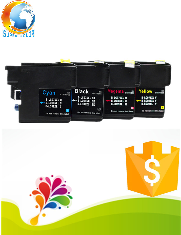 Supercolor Factory price LC985 compatible ink cartridge for Brother MFC-5490CN 5890CN 6490CN 6890CDW pritner