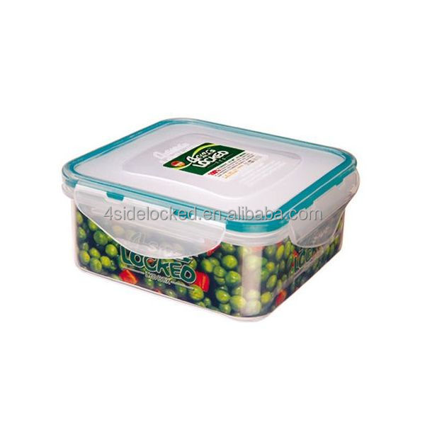 airtight plastic food grade lock and lock food container manufacturer