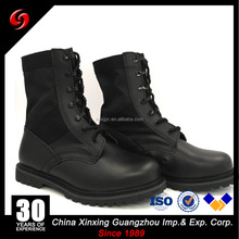 Delta force genuine leather nylon canvas military boots for army