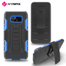 New style kickstand hybrid shockproof phone case for samsung galaxy s8