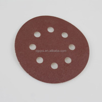 5 Inch 8 Hole Hook & Loop Discs Sandpaper / Sanding disc for wood / round sand paper