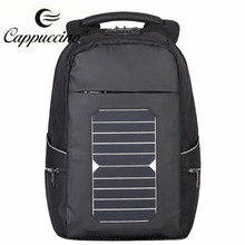 Eco Solar Powered Backpack College Schoolbag USB Charging Laptop bag