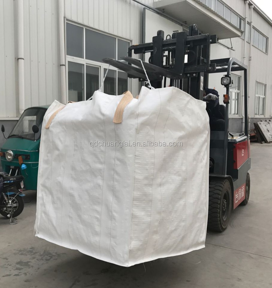 500kg big bag for scrap with top cover,construction waste container bag