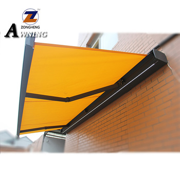 The newest aluminum glass canopy folding vertical side awning vertical side awning manufacturing machine