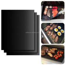 Whosale Reusable PTFE Coated Non-stick Silicone BBQ Teflon Grill Sheet Mat