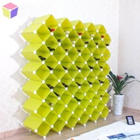 large capacity free standing plastic cubes wine display cabinet