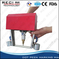 Mini portable style pneumatic marking machine for VIN chassis number logo
