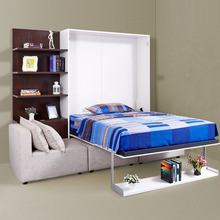 modern design 2014 murphy bed system invisible wall bed with gas spring parts