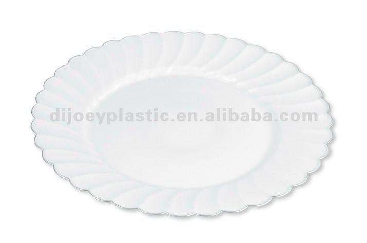 9 inch plastic party plates clear round plate