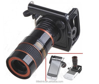 Universal 8X Zoom Optical Camera Telescope with Adjusted Holder for iPhone 4 & 4S / Below 7cm Wide Mobile Phones