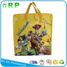 Custom made fashion design colorful small zipper tote shopping bag