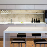 KKR customized cheap stone small white kitchen bar for home
