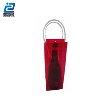 Custom high quality pvc packaging wine bag for party