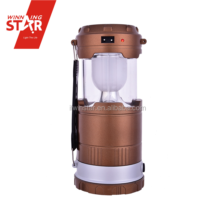 6+1W Stretch Solar Power Rechargeable LED Camping Lantern with USB Port