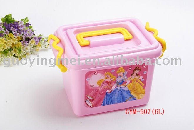printed plastic food storage box container