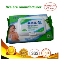 Nonwoven baby care wipe olive oil extract cotton spunlace wet wipe lid skin care manufacturer wholesale