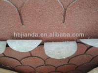 Waterproof red asphalt roof shingles