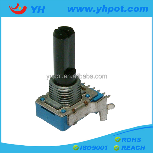 jiangsu 12mm 6 pin high power rotary 50k linear types of potentiometer for mixer