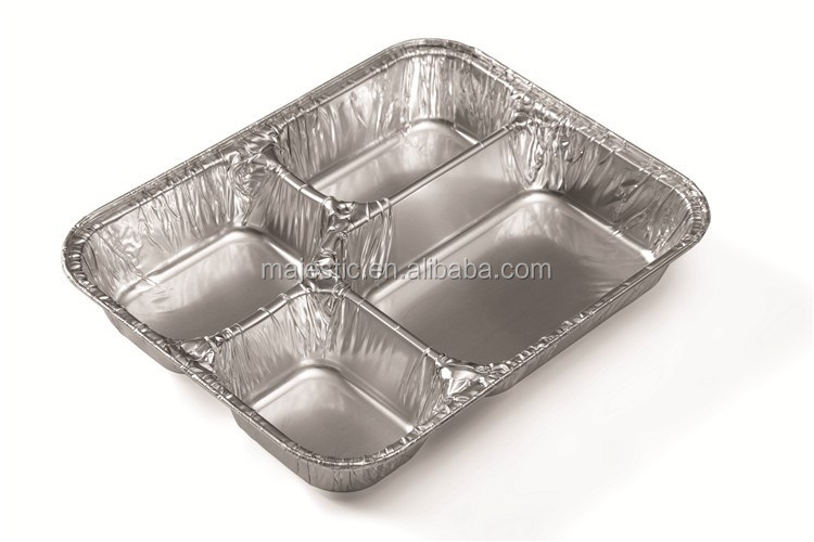 3 compartment Disposable Aluminum Foil food container