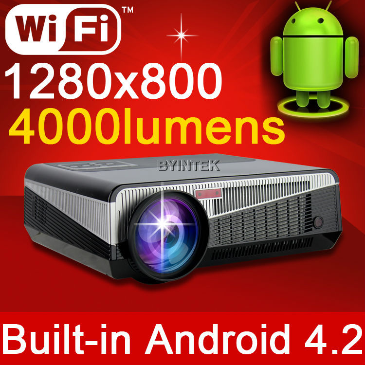 Bright Daylight Built-in Android 4.2 Smart Wireless Wifi The Home Theater HD Video 1080P TV LED 3D Projector proyector 1