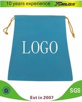 Promotional non woven / polyester drawstring gift / shoe BAG Customized