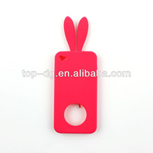 silicone mobile phone cover rabbit ears