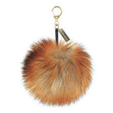 Fashion Faux Fox Fur Pompom Keychain Charm Key Chain For Car Key Ring or Bag Fur Pom Pom Ball