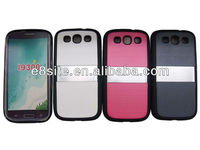 Stylish TPU PC Metal Hybrid Phone Case For SamSung i9300 Galaxy S3