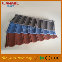 Royal Roofing Sheet Wanael Classical Free Sample Villa Red Steel Decoration 1170*420Mm Roof Tile Stone Coated